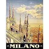 Wee Blue Coo Prints Vintage Travel Milano Milan Italy New FINE Art Print Poster CC5565 (Kitchen)