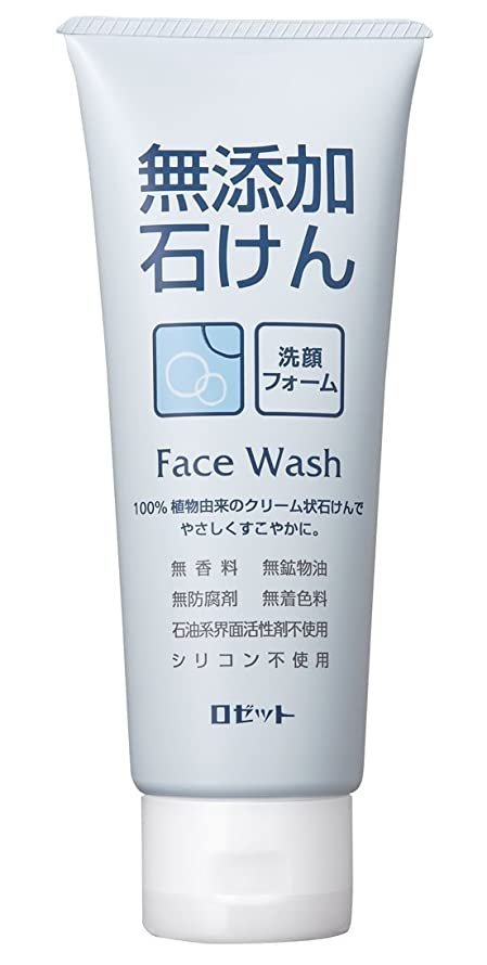 甘やかす依存する側ロゼット 無添加石けん 洗顔フォーム 140g
