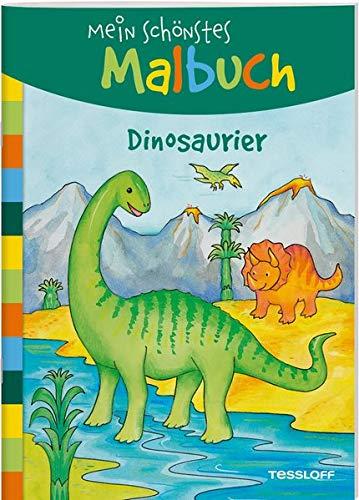 Mein schönstes Malbuch. Dinosaurier: Malen für Kinder ab 5 Jahren (Malbücher und -blöcke)