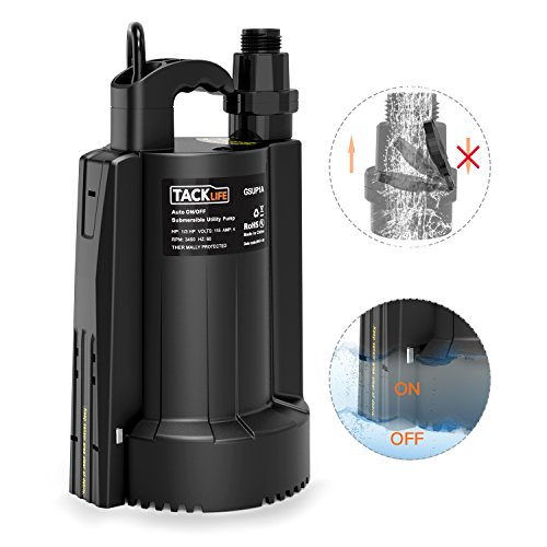 Submersible Water Pump, Tacklife 1/3 HP Automatic ON/OFF...