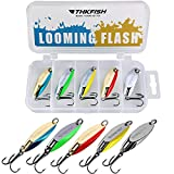thkfish Fishing Lures Trout Lures Fishing Spoons Lures for Trout Pike Bass Crappie Walleye Color B 1/8oz 5pcs
