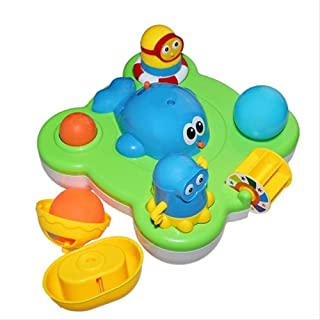 Zpong Baby Fountain Bath Toy for Children Douche Kids Electric Floating Spraying Water Cartoon Toys Kids Bathing Water Spr...