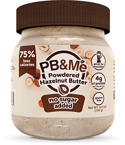 PB&Me PB&Me Powdered Hazelnut Spread, Keto Snack, Gluten Free, Plant Protein, No Sugar Added, 6.5 Ounce