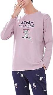 GAGA Mens Autumn Pajamas Matching Family PJ Holiday Sleepwear Long Sleeve Soft Pjs Set