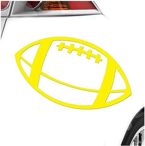 Football 15 X 11 Cm In 15 Farben Neon Chrom Sticker Aufkleber Auto
