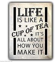 レトロおかしい金属錫サイン8 x 12インチ(20 * 30 cm)コーヒーデザート飲み物お茶リキ看板警告通知パブクラブカフェホームレストラン壁の装飾アートサインポスター(jgil-1-13)