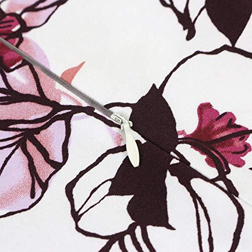 Tailloday Damen 50er Jahre Art Rock Vintage Floral Rockabilly Swing Tellerrock L - 5