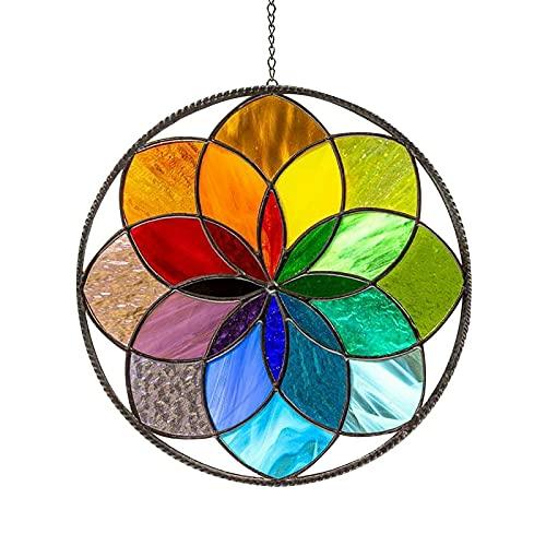 Sobeta Glasmalerei Tausend Farbe Regenbogen Suncatcher Fenster Anhänger Ornamente Kreative Wandbehang Dekorationen Wohnkultur Kunst Anhänger