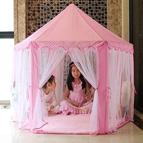 BREEZEE MARKET Castillo Carpa Casa Princesas Portatil. Castillo de Princesas Cute Interior Kids Play Tienda de campaña al Aire. Playhouse