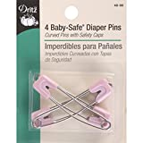 Dritz Baby-Safe Diaper Pins, Pastels 4
