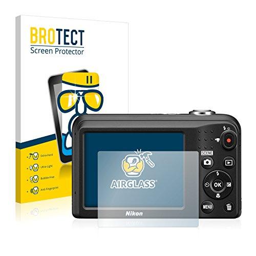brotect Pellicola Protettiva Vetro Compatibile con Nikon Coolpix A10 Schermo Protezione, Estrema Durezza 9H, Anti-Impronte, AirGlass