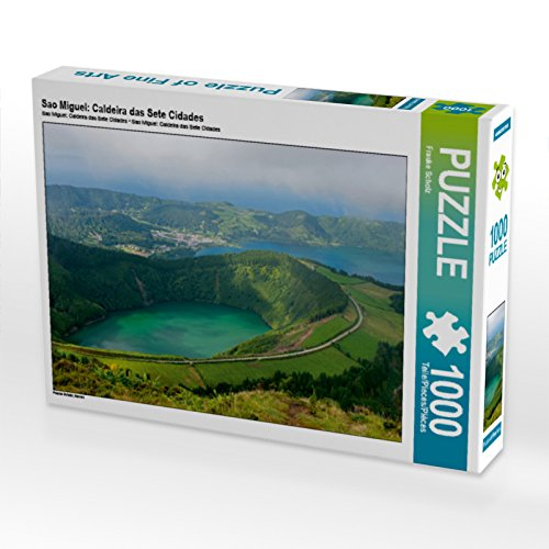 Preisvergleich Produktbild CALVENDO Puzzle Sao Miguel: Caldeira das Sete Cidades 1000 Teile Lege-Größe 64 x 48 cm Foto-Puzzle Bild von Frauke Scholz