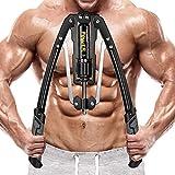 DENGZ Máquina de Entrenamiento de Brazos, Entrenamiento de músculos de Hombros, expansor de Pecho 4 en 1, máquina de Entrenamiento Muscular de 10 kg a 200 kg Barra de Entrenamiento de Fuerza
