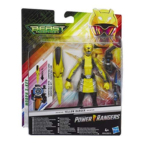 Power Rangers Beast Morphers Yellow Ranger, 15 cm große Actionfigur zur TV-Serie, für Kinder ab 4 Jahren