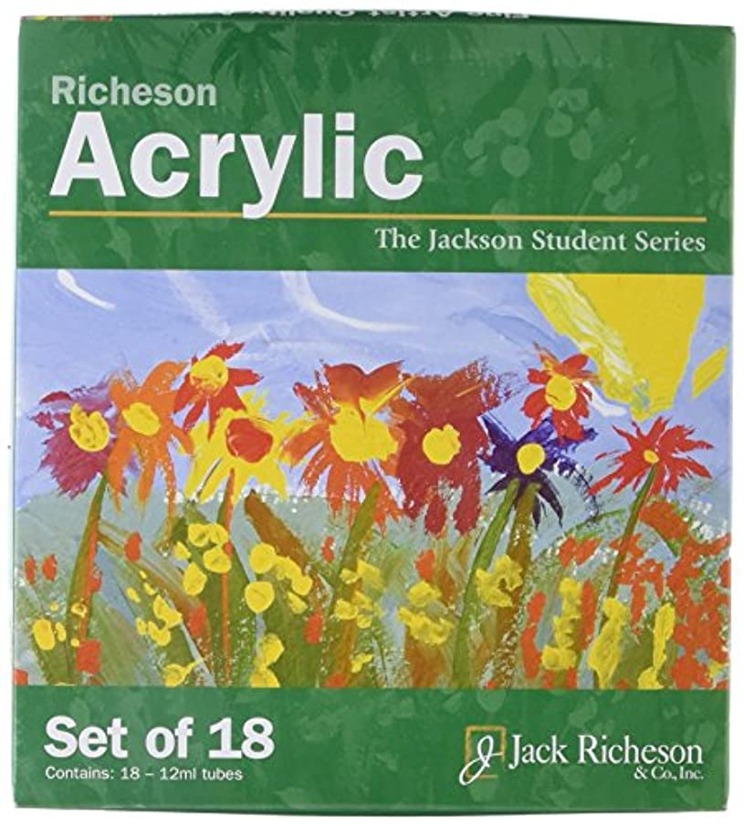 Jack Richeson Paints Acrylics, 12ml, Set of 18