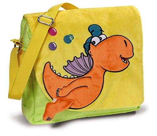 NICI 40694 - Kindergartentasche Der kleine Drache Kokosnuss, Plüsch 26x23x7,5cm