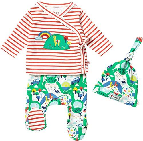 Piccalilly Lot de 3 vêtements pour bébé Unisexe Motif Animaux de la Ferme - Multicolore - 3-6 Months