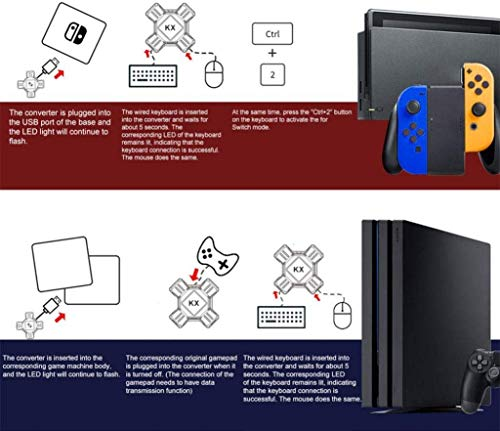 Adapter Maus und Tastatur Konverter für PS4 PS3 Xbox One Nintendo Switch KX USB 2.0 Game Controller Converter Keyboard Mouse