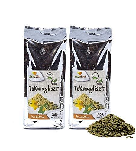 LoveDiet Kürbiskernmehl Teilentölt 2erPack(2x500g)   natürlich ohne Zusätze   Vegan - und für Low Carb Ernährung   Glutenfrei   aus Ungarn