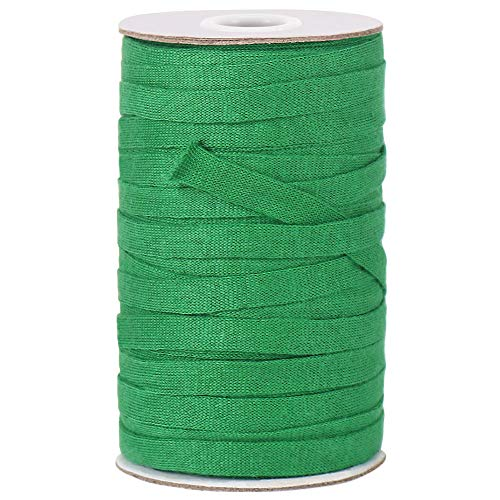 Garden Tie, 50M 8mm Soft Durable Green Plant Twine Stretchy Tree Supports Biodegradable for Gardening, Home,Outdoor