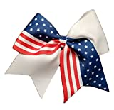 Cheer Bows Red White and Blue Patriotic Flag Hair Bow