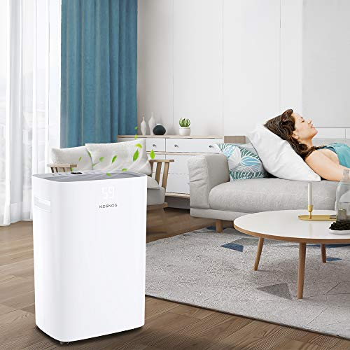 Kesnos 3500 Sq. Ft Dehumidifier for Home and Basements Removes Moisture, with Auto Shut Off, Continuous and Manual Drainage