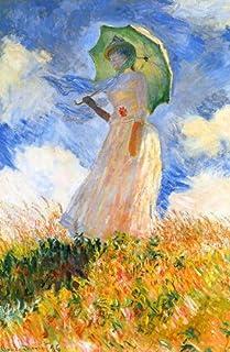モネ・「日傘をさす女性(左向き)」 プリキャンバス複製画・ ギャラリーラップ仕上げ(8号サイズ)