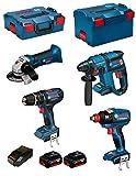 BOSCH Kit PSG4P2C (GBH 18V-EC + GSB 18-2-LI + GWS 18V-LI + GDX 18V-EC + 2 x 5,0Ah + AL1860CV + L-Boxx 238 + L-Boxx 136)