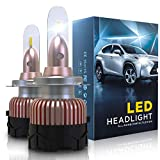 Bombilla H7 LED Coche 10800LM Faros Reemplazar de a Luz Halógena y Xenon HID, CSP Súper Brillante 6000K, 2 Lámparas