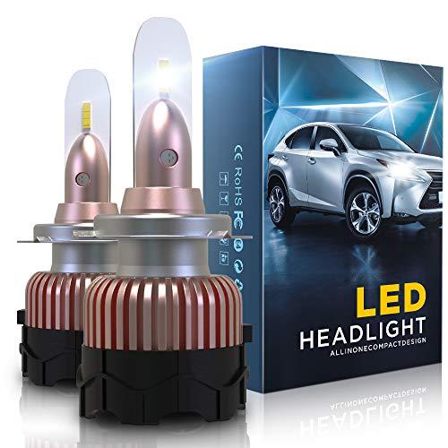 Aolead Lampadine H7 LED 10800LM Auto Fari Sostituzione per Alogena e Xenon Luci, CSP Super Luminosa Lampada 6000K - 2 Anni Garanz