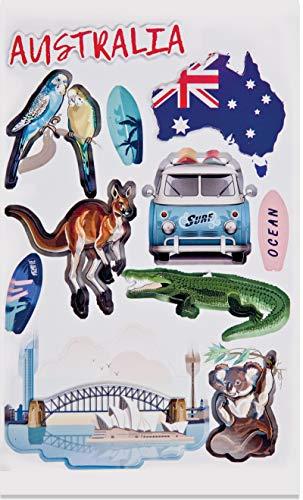 Hobbyfun Sticker Australien, Bogen 13 x 18 cm