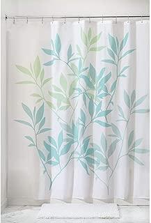 iDesign InterDesign 35650 Leaves Fabric Shower Curtain-Standard, 72