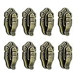 Antikes Kastenschloss für Werkzeugkoffer, Koffer, Retro-Stil, Antik-Bronze, 8 Stück