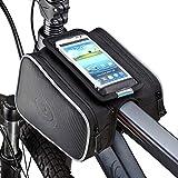 SIVENKE Ciclismo Manillar Bolsa Funda para Pantalla táctil móvil Soporte Bicicleta Tubo Frontal Bolsa Resistente al Agua para Bicicleta Marco Bolsa
