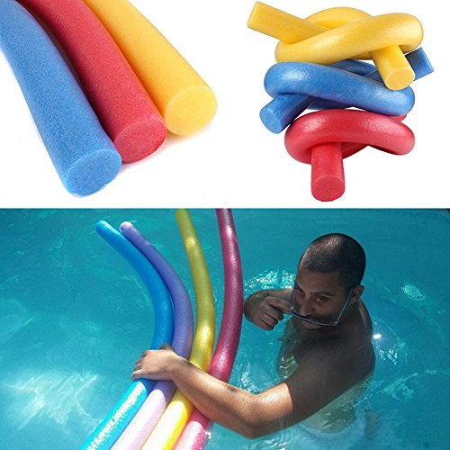 CVERY Schwimmbad-Nudeln, Schaumstoff-Schwimmhilfe, Wackelscheite, für Schwimmanfänger (zufällige Farbauswahl), 4 Stück