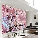 Benutzerdefinierte Wandbild Tapete 3D Kirschblüten Fototapete Schlafzimmer Wohnzimmer TV Hintergrund Home Innendekoration Tapeten