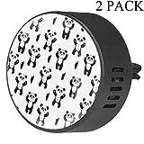 EZIOLY Panda Beg Hug - Diffusore per aromaterapia, diffusore di fragranze per Auto, Auto, Ufficio, Cucina