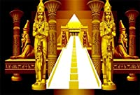 Yeele 7x5フィート ゴールデン 古代エジプト写真背景 ビニール ファラオ 古代スフィンクス 抽象ピラミッド 階段 写真背景 エジプト女王 ポートレート 宗教 歴史文化 写真スタジオ小道具