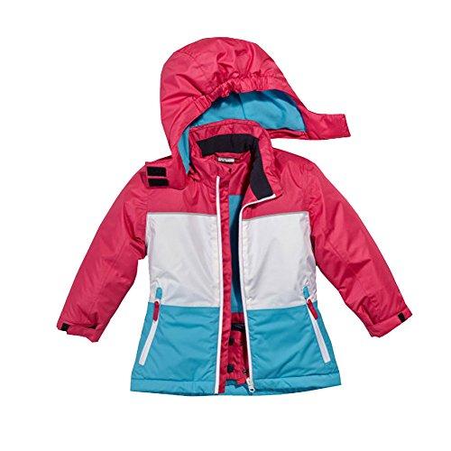Papagino Kleinkinder Mädchen Schneejacke Skijacke Blau-pink-Weiss (74/80)