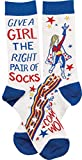 Primitives by Kathy LOL Made You Smile Gift Socks, Multicolor