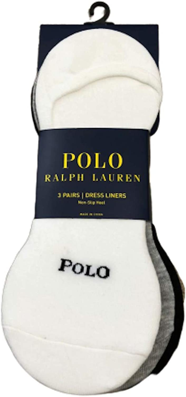 Polo Ralph big pony Lauren women No Show Dress Casual Liner - 3 Pack