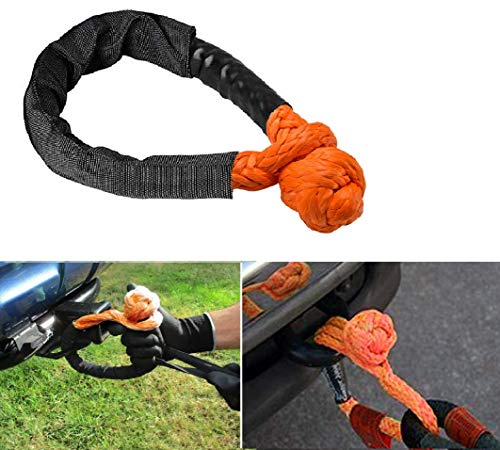 Orange 2 Pack Soft Shackle Rope Synthetic for Boating ATV Truck Jeep Recovery Trailer Samlighting Orange Synthetic Soft Shackle Rope 1//2 Inch X 22 Inch 38,000lbs Breaking Strength