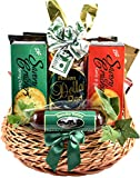 Dads' Snack Attack - A Gift Basket For Dad With Manly Snacks Including Cheese, Sausages, Crackers, Snack Mix, Cashews and More...
