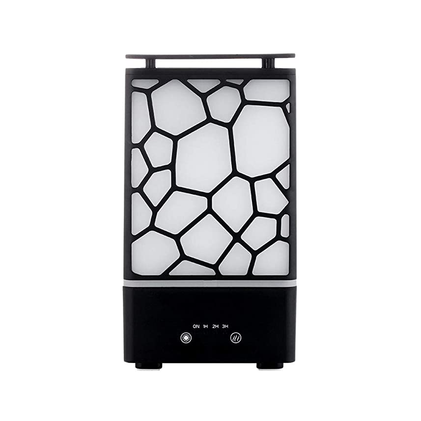 ヒステリック作る冷酷なアロマセラピー機械、7色ライトが付いている拡散器の超音波アロマセラピー機械空気加湿器の噴霧器 (色 : 黒)