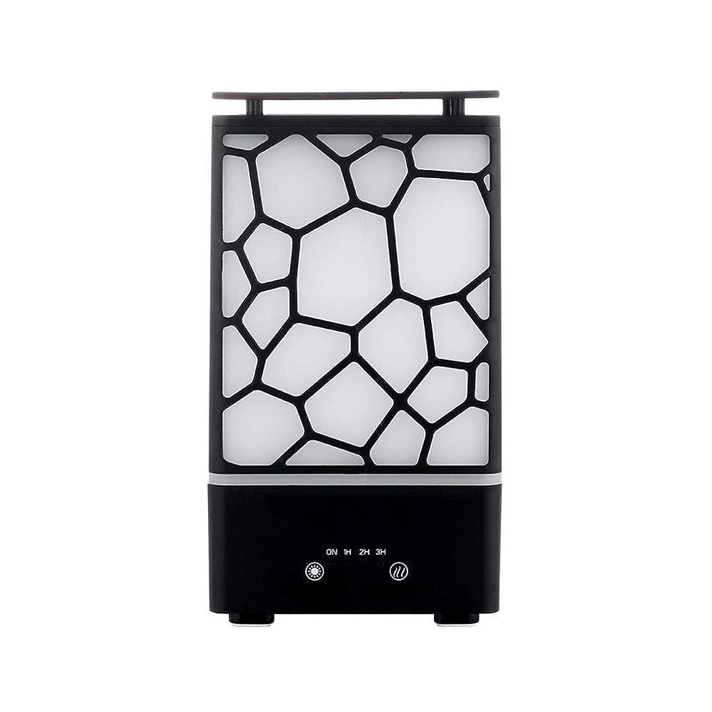 モートカジュアル注釈を付けるアロマセラピー機械、7色ライトが付いている拡散器の超音波アロマセラピー機械空気加湿器の噴霧器 (色 : 黒)