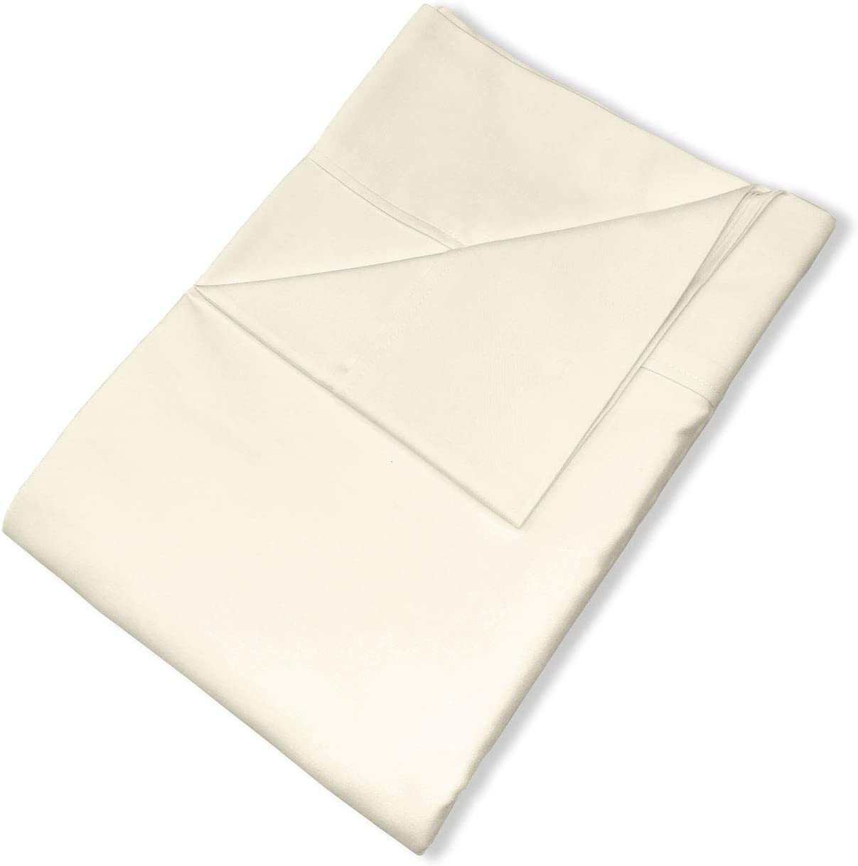 Pizuna Soft 600 Thread Count depot Cotton Flat 1pc 5 ☆ popular Sheets Ivory Full