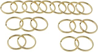 FITYLE 20 Pieces Brass Round Edged Flat Edged Split Keychain Ring 10mm, 12mm, 20mm, 30mm for Car Home Keys Organizer, Arts & Crafts, DIY Jewelry Accessories