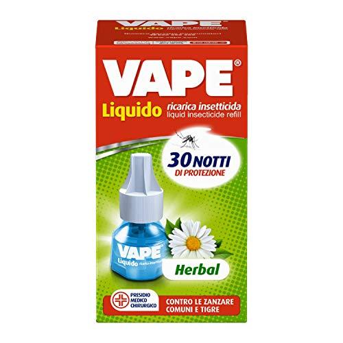 Vape Ricarica Liquida Herbal, Protezione Zanzare, Profumazione Delicata, 30 Notti