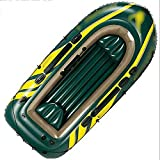 NEHARO Kayaks Al Aire Libre 3 Personas Inflable Barco Pesca Kayak Lago Lago Inflable Barco Unisex para la Playa (Color : Green, Tamaño : 295x137x43cm)