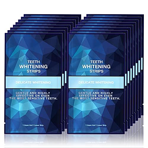 Teeth Whitening Strips for Teeth Sensitive , Reduced Sensitivity White Strips for Teeth Whitening , Dental Teeth Whitening Kit Pack of 28 Whitener Strips